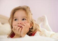 Dromend meisje Royalty-vrije Stock Afbeeldingen