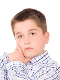 Dromende jonge jongen Stock Foto's