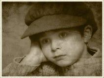 Dromende jongen Stock Foto