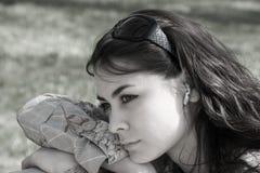 Dromende Vrouw Stock Afbeeldingen