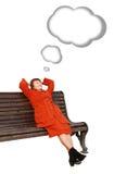 Dromende vrouwen Stock Foto