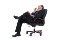 Dromende zakenman Stock Foto's