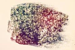 dromerig en abstract beeld van witte bloemen dubbel blootstellingseffect met de slagtextuur van de waterverfborstel Royalty-vrije Stock Foto