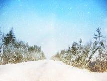 Dromerig en abstract de winterlandschap schitter bekleding Royalty-vrije Stock Afbeeldingen