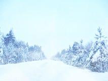 Dromerig en abstract de winterlandschap schitter bekleding Stock Afbeelding