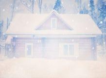 Dromerig en abstract magisch de winterlandschap Royalty-vrije Stock Afbeeldingen