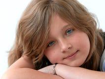 Dromerig jong meisje Royalty-vrije Stock Foto's
