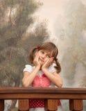 Dromerig meisje Stock Afbeeldingen