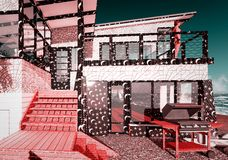 Dromerig plattelandshuisje vector illustratie