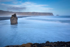 Dromerig Strand in IJsland Royalty-vrije Stock Foto