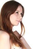 Dromerige jonge vrouw stock foto