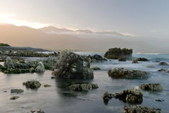 Dromerige landscale in Kaikoura stock afbeelding