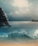 Dromerige Oceaan Stock Fotografie
