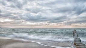 Dromerige, pastelkleur oceaan, lange blootstelling Royalty-vrije Stock Foto's