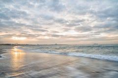 Dromerige, pastelkleur oceaan, lange blootstelling Royalty-vrije Stock Afbeelding
