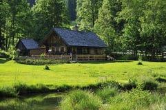 Dromerige Plattelandshuisje & Tuin Royalty-vrije Stock Afbeelding