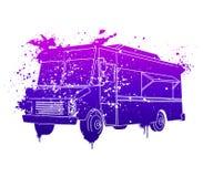 Dromerige Voedselvrachtwagen Royalty-vrije Stock Afbeeldingen
