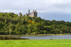 Dromore Castle and lake royalty free stock photo