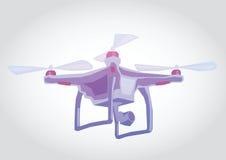 Dron, απεικόνιση Quadrocopter Στοκ Εικόνες