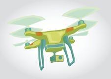 Dron, απεικόνιση Quadrocopter Στοκ εικόνες με δικαίωμα ελεύθερης χρήσης