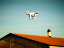 Dron above roofs Stock Image