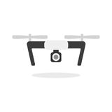 Dron with camera Royalty Free Stock Photography