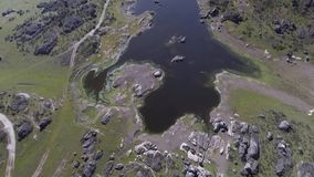 Dron del desde de los grandes de Lagunas metrajes