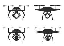 Dron do logotipo Imagem de Stock