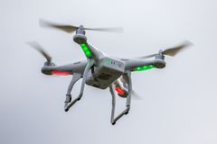 Dron flying free Stock Photo