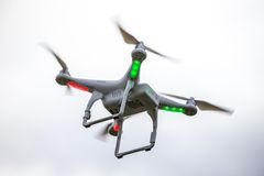 Dron flying free Stock Photography