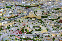 Dron view of scale model Royalty Free Stock Image
