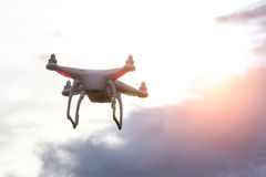 Dron watching the sunset Stock Photo