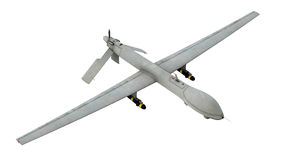 Drone. Military drone, clipping path included royalty free stock photos
