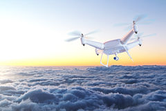 Drone above clouds Royalty Free Stock Photography