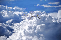 Drone above the clouds Royalty Free Stock Images
