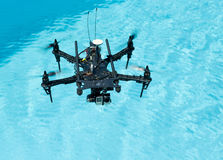 Drone above water Royalty Free Stock Photos