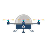 Drone advanced with cabin and three airscrew Stock Photography