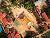 Aerial boudhist temple pagoda in Siem-Reap, Cambodia stock image
