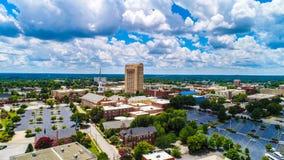 Drone Aerial of Downtown Spartanburg South Carolina SC Skyline Stock Image