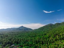 Drone Aerial Panorama , Koh Phangan island. Drone Aerial Panorama of green mountains, Koh Phangan island royalty free stock photography