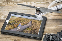 Drone aerial photography concept Stock Images