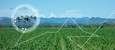 Drone for agriculture, drone use for various fields like research analysis, safety,rescue, terrain scanning technology, monitoring. Soil hydration ,yield vector illustration