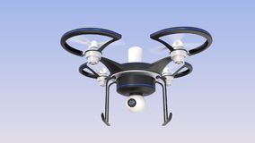 Drone on air with camera Royalty Free Stock Image