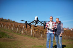 Drone in air Royalty Free Stock Photos