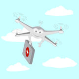 Drone . Ambulance services. The sky Stock Photo
