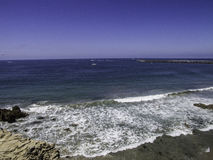 Drone Beach Southern Ca. Royalty Free Stock Photography