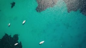 Drone bird view of mediterranean sea by Sardinia Italy. Summer vaction stock video footage