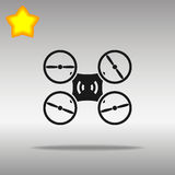 Drone black Icon button logo symbol Royalty Free Stock Images