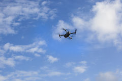 Drone. In the blue sky stock photos