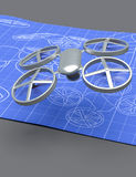 Drone blueprint Stock Images